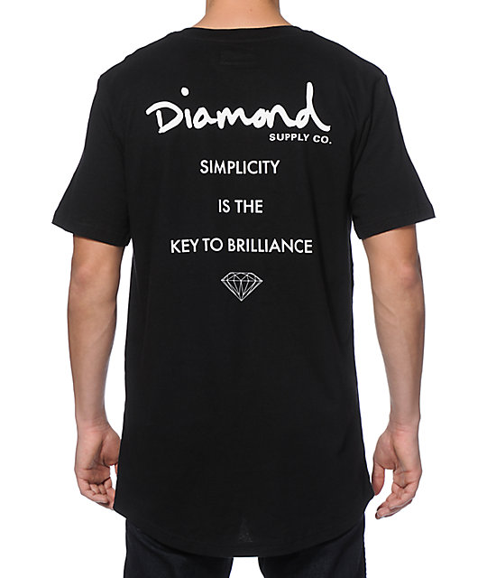 Diamond Supply Co Motto Long T-Shirt
