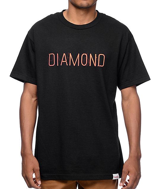 Diamond Supply Co Neon Black T-Shirt
