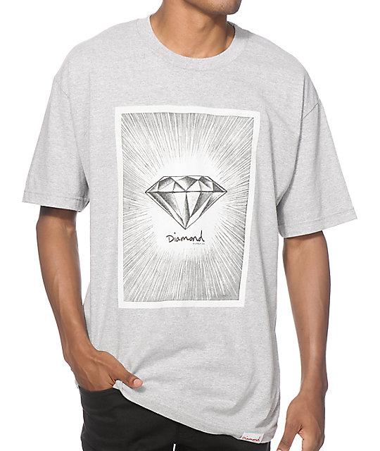 Diamond supply co news print t shirt for T shirt printing supplies wholesale