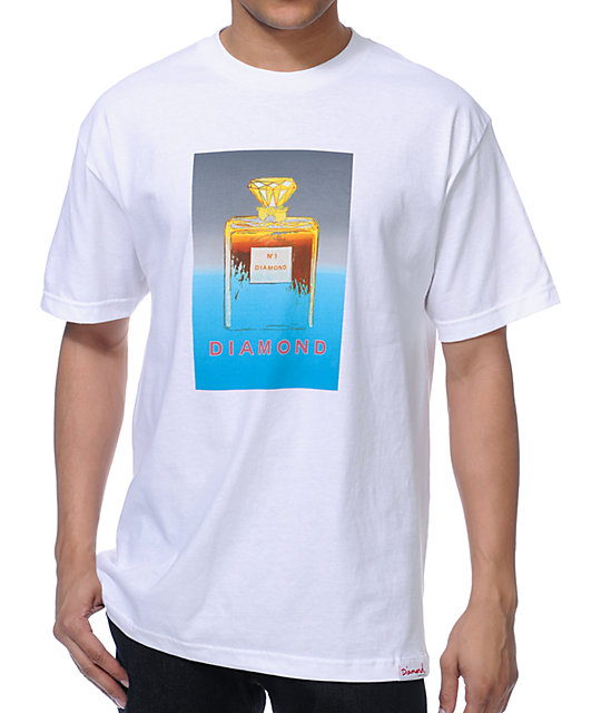 Diamond Supply Co No.1 DMND White T-Shirt