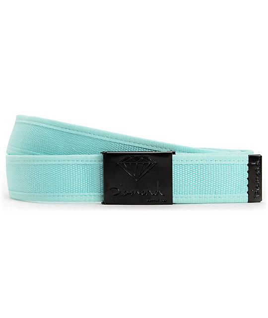 Diamond Supply Co OG 2-tone Diamond Blue & Black Belt