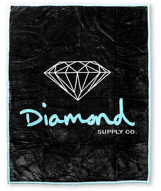 Diamond Supply Co OG Black & Teal Blanket at Zumiez : PDP - photo#1