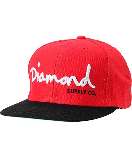 Diamond Supply Co OG Logo Black & White Snapback Hat