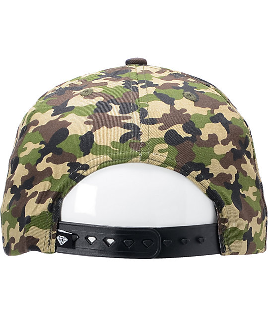 Diamond Supply Co OG Logo Camo Snapback Hat
