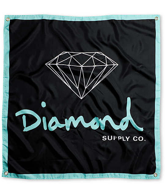 Diamond Supply Co OG Logo Diamond Blue & Black Banner