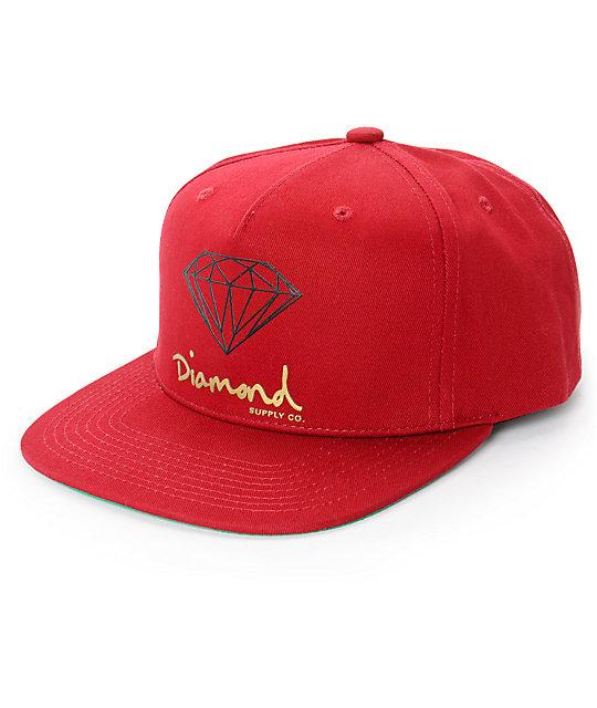 diamond supply co og logo snapback hat at zumiez pdp