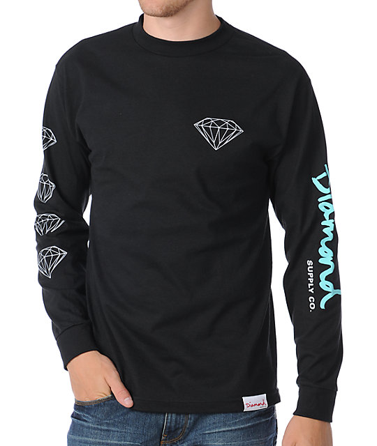 Diamond Supply Co OG Long Sleeve Black T-Shirt