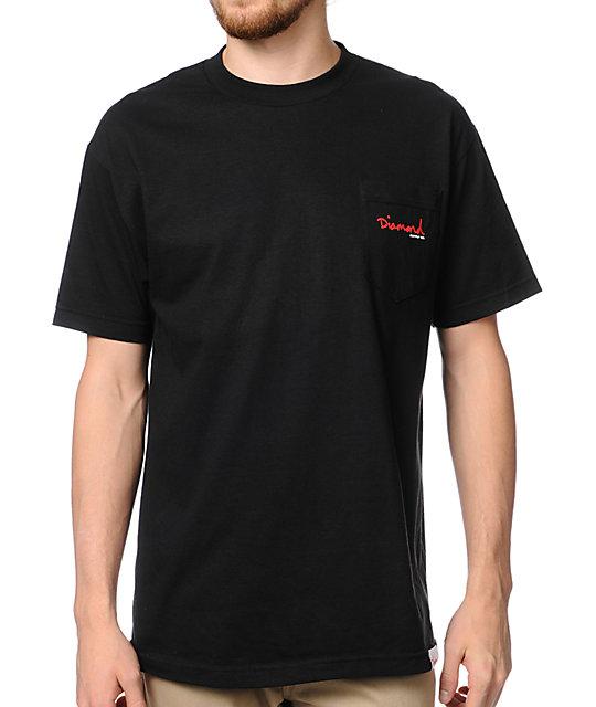 Diamond Supply Co OG Script Black Pocket T-Shirt