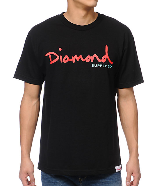 Diamond Supply Co OG Script Black T-Shirt