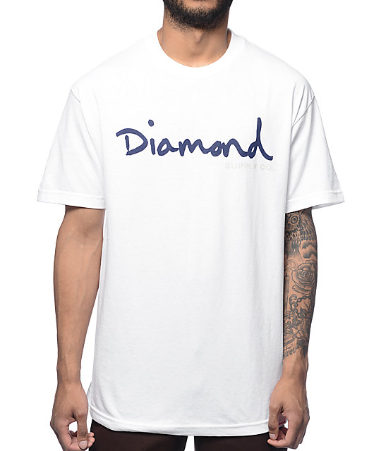 Diamond Supply Co OG Script White T-Shirt