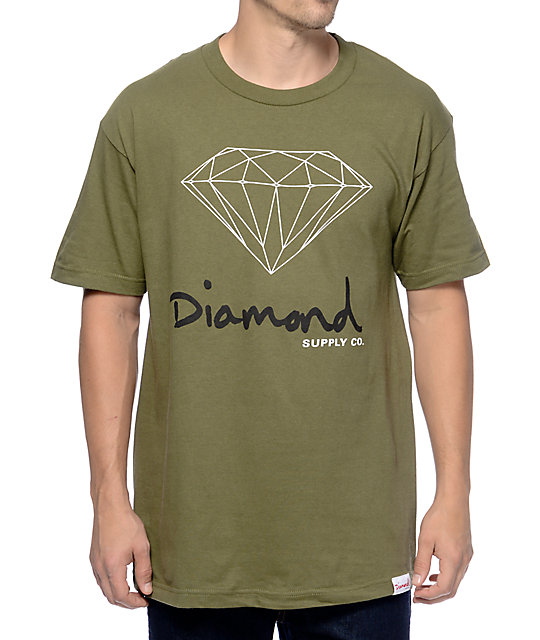 Diamond Supply Co OG Sign Army T-Shirt