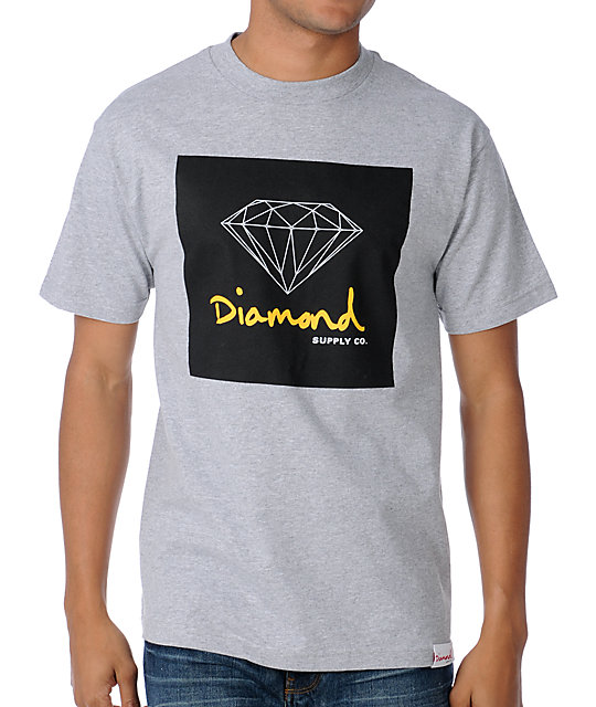Diamond Supply Co OG Sign Heather Grey T-Shirt