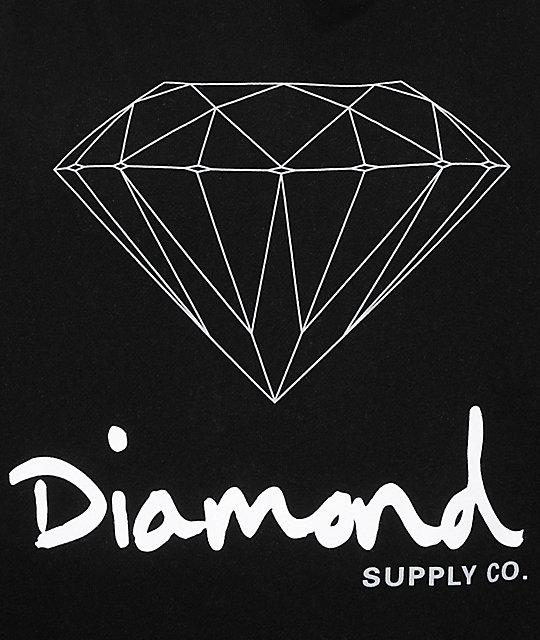 diamond supply co og sign hoodie zumiez