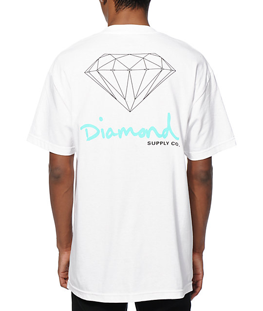 Diamond supply co og sign t shirt at zumiez pdp for Wholesale diamond supply co shirts