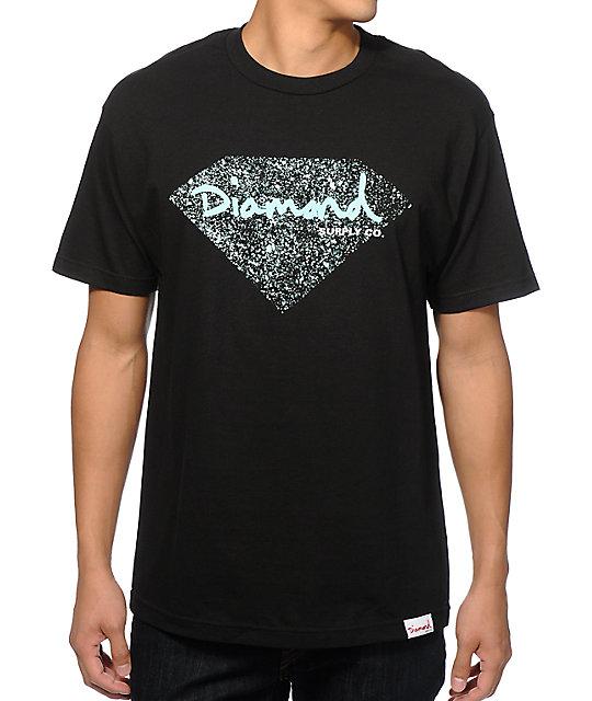 diamond supply co og splatter tshirt
