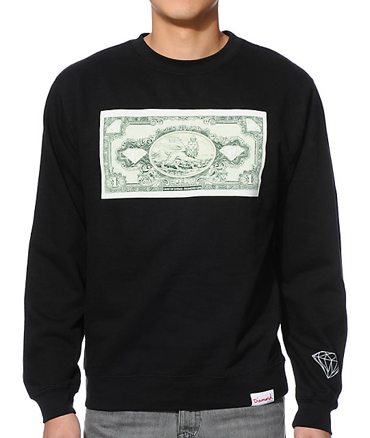 Diamond Supply Co One Love Black Crew Neck Sweatshirt - photo#49