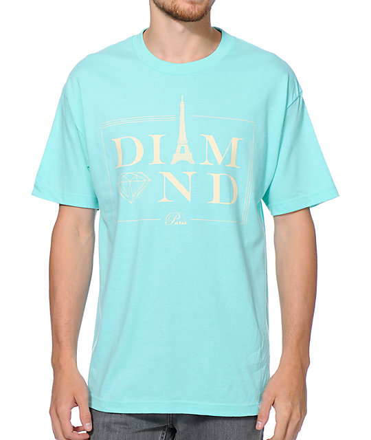 Diamond Supply Co Paris Diamond Blue T-Shirt