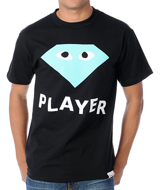 Diamond Supply Co Player Black T-Shirt