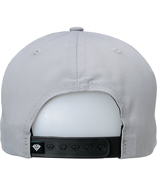 Diamond Supply Co Player Grey & Black Snapback Hat