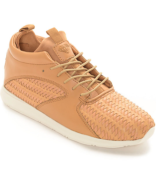 Diamond Supply Co Quest Mid Woven Light Brown Shoes