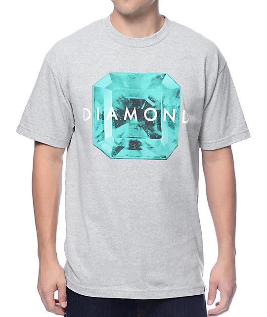 Diamond supply co rare gem heather grey t shirt for Wholesale diamond supply co shirts