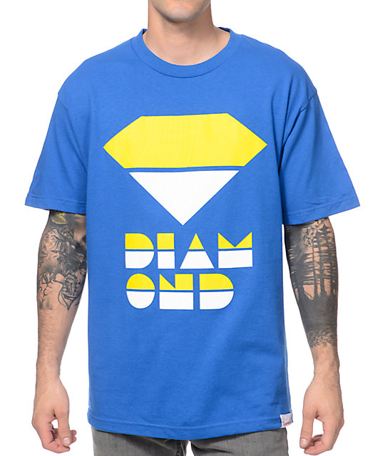 Diamond Supply Co Retro Royal Blue T-Shirt