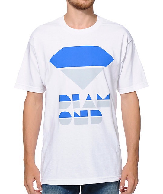 Diamond Supply Co Retro White T-Shirt