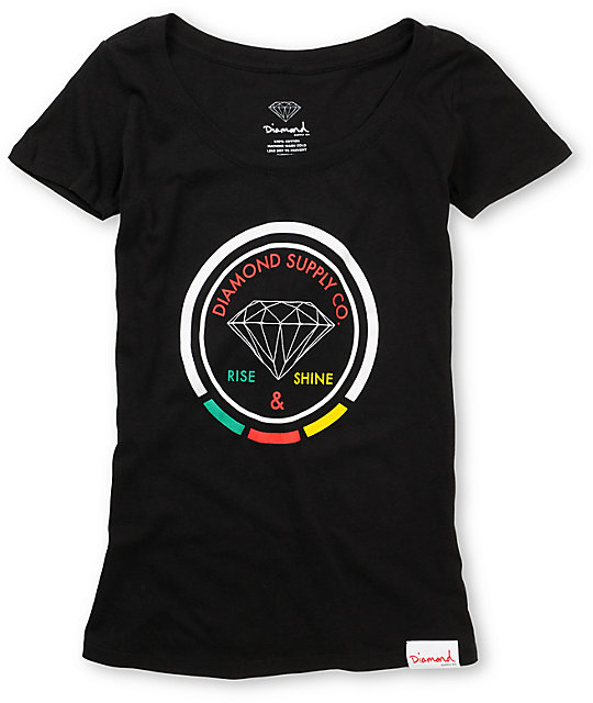 Diamond Supply Co Rise And Shine Rasta T-Shirt