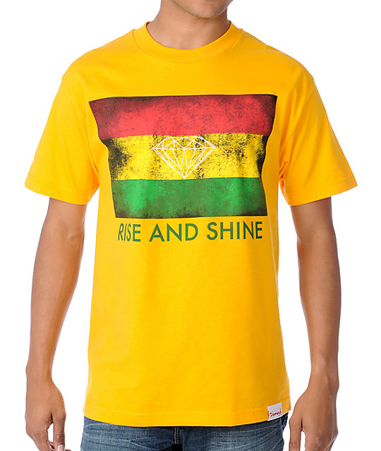 Diamond Supply Co Rise And Shine Yellow T-Shirt