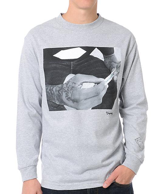 Diamond Supply Co Rollin Diamonds Grey Long Sleeve T-Shirt
