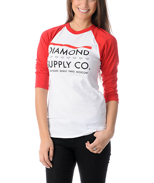 Diamond Supply Co Roots Baseball Tee