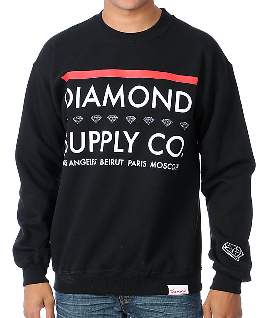 Diamond Supply Co Roots Black Pullover Sweatshirt