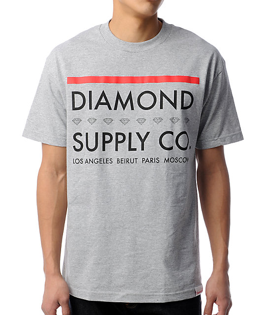 Diamond Supply Co Roots Grey T-Shirt