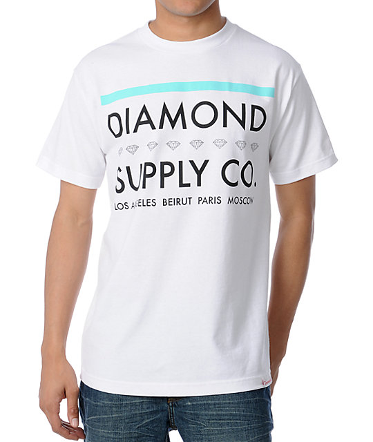 Diamond Supply Co Roots White T-Shirt