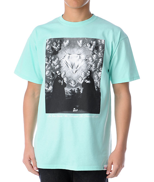 Diamond Supply Co Sacred Heart Turquoise T-Shirt