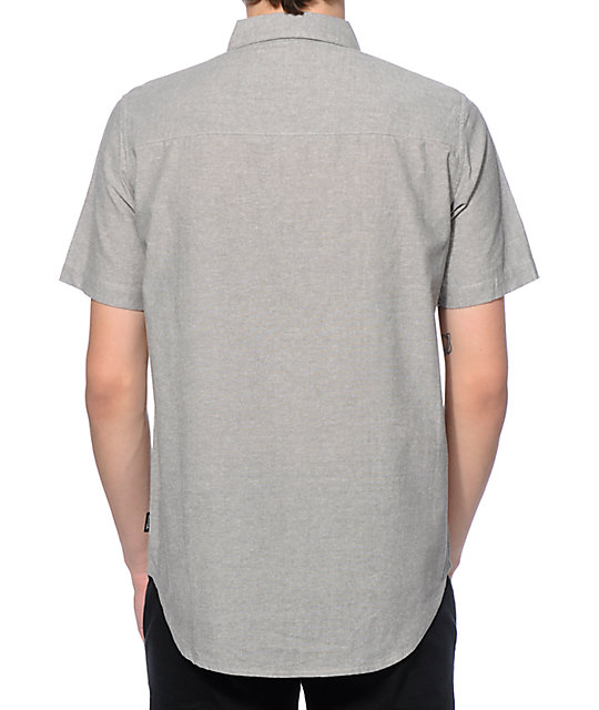 Diamond supply co serif chambray polo shirt zumiez for Diamond supply co polo shirts