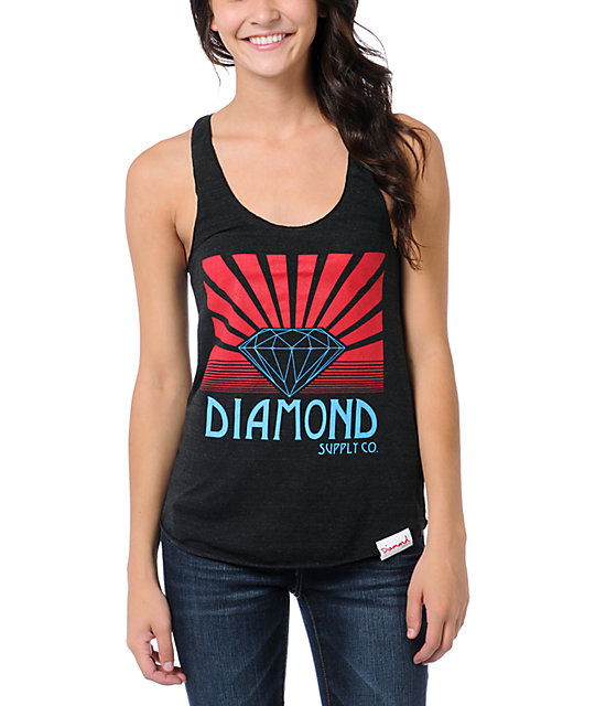 Diamond Supply Co Shining Charcoal Tank Top