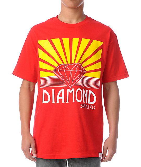 Diamond Supply Co Shining Red T-Shirt