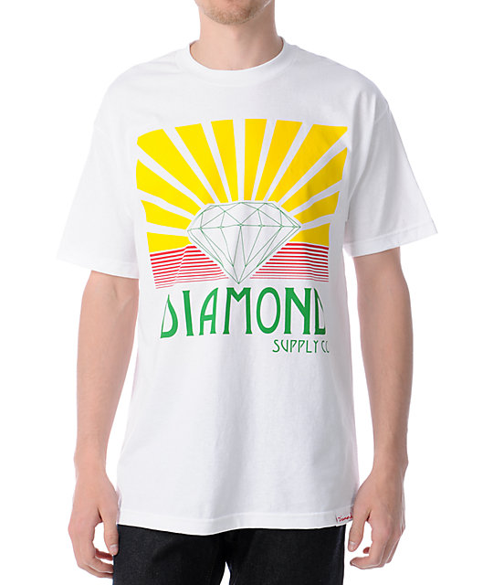 Diamond Supply Co Shining White T-Shirt