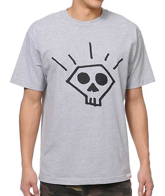 Diamond Supply Co Skull Heather Grey T-Shirt