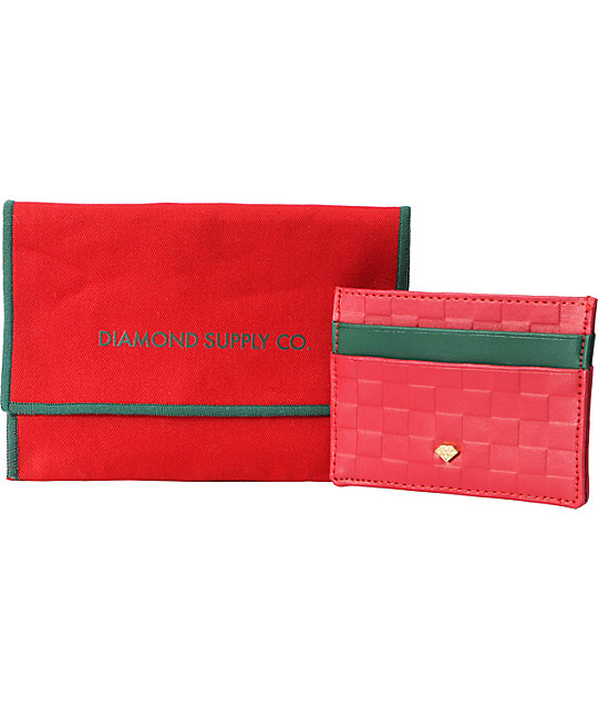 Diamond Supply Co Slim Card Holder Red Wallet