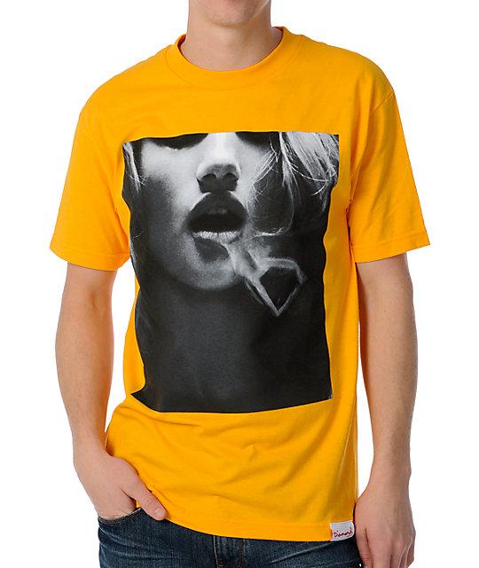 Diamond Supply Co Smoke Rings Yellow T-Shirt