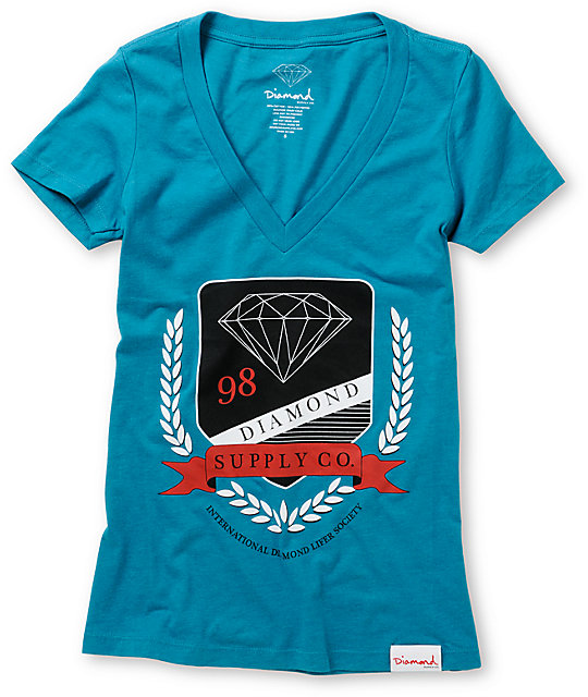 Diamond Supply Co Society Turquoise T-Shirt