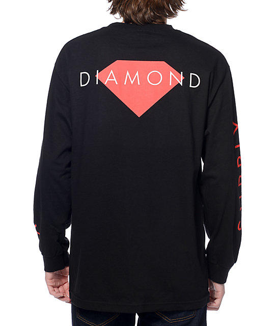 Diamond Supply Co Solid Black Long Sleeve T-Shirt at Zumiez : PDP