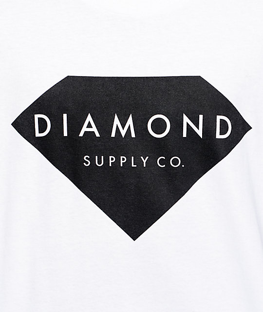 Diamond Supply Co Solid Stone White T-Shirt