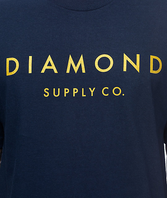 Diamond Supply Co Stone Cut Military Navy T-Shirt
