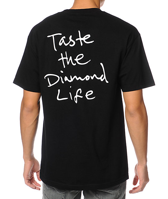 Diamond Supply Co Taste The Diamond Life Black T-Shirt
