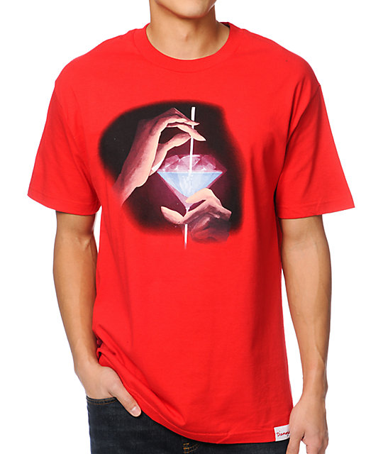 Diamond Supply Co Taste The Diamond Life Red T-Shirt