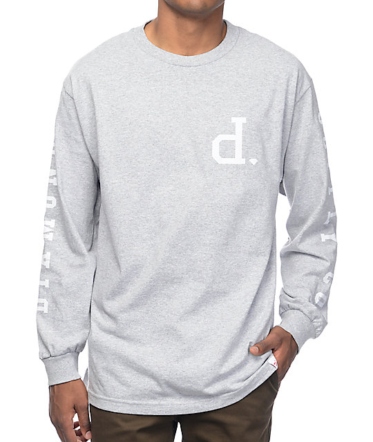 diamond supply co tonal un polo grey long sleeve t shirt. Black Bedroom Furniture Sets. Home Design Ideas