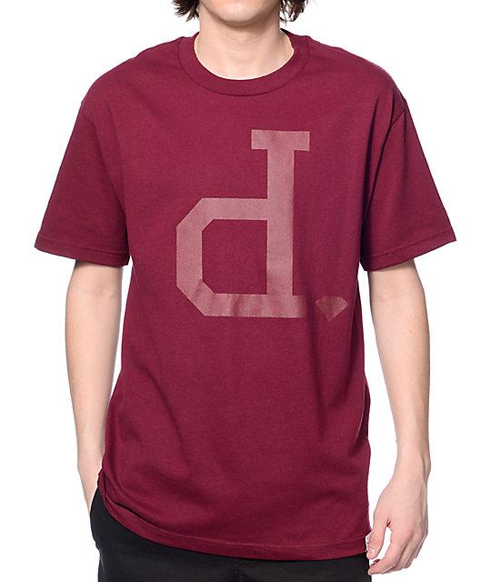 Diamond supply co tonal un polo maroon t shirt for Diamond supply co polo shirts